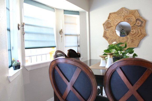 roller shades in a kitchen with blinds.com | custom window treatments | custom roller shades