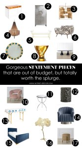 statement pieces for the home | home decor | statetement furniture