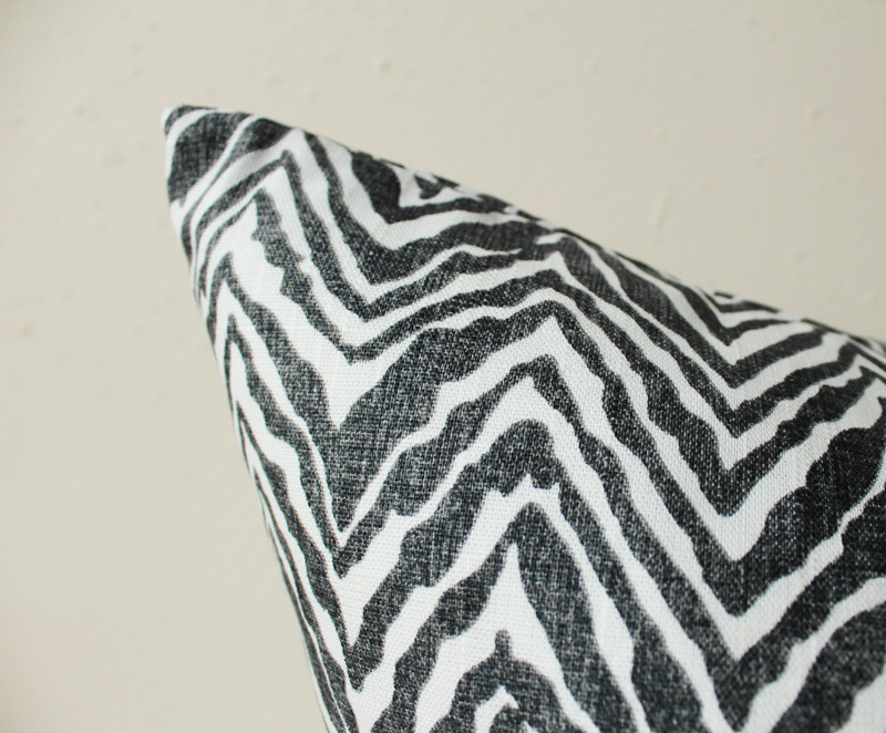 Black and white pillow black and white zebra print pillow animal print black