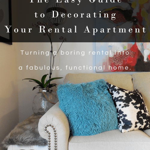 apartment decorating guide | apartment decorating ebook | rental decorating ebook | apartment decorating tips | decorating a rental | how to get rental deposit back