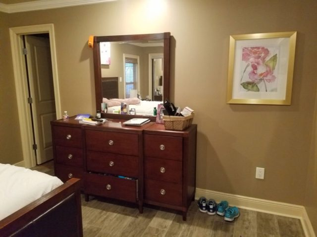 before photo | pink and gray bedroom | pink bedroom | pink master bedroom | nola decorator | new orleans interior design | new orleans decorator | nola interior designer | nola homes | new orleans homes |