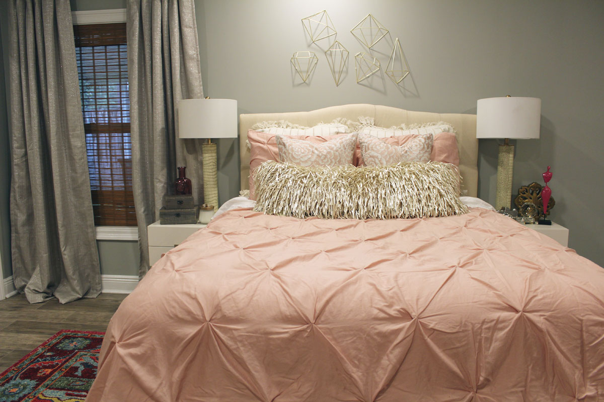 Pink And Gray Bedroom | Pink Bedroom | Pink Master Bedroom | Nola Decorator  | New
