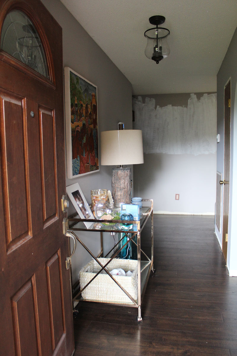 entryway plans and updates by whitney j decor | before photos of entryway | entryway decor | foyer decor | entryway ideas | foyer ideas | tribal stencil | black and white entry | black and white foyer | whitney j decor | new orleans blogger | new orleans interior designer | new orleans decorator | nola blogger | nola decorator | nola interior designer