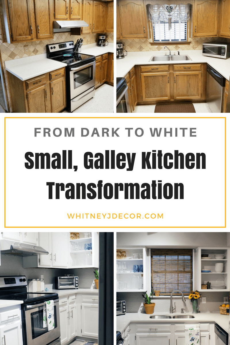 ugly small brown kitchen remodel transformation | caesarstone london grey countertops | caesarstone countertops | gray and white kitchen reveal whitney j decor | caesarstone countertops | gray and white kitchen | small gray kitchen | small galley kitchen | small white kitchen | small space kitchens | tiny kitchen decor | gray and white kitchen decor | white kitchen decor | new orleans interior design | new orleans decor | new orleans homes | nola homes | nola decorator | new orleans decorator