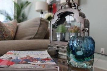 transitional-living-room | green living room walls | mint green living room walls | better homes & gardens styling | whitney j decor