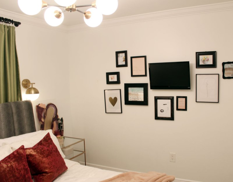 photo of white gallery walls