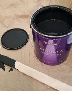 laundry room ceiling paint   behr marquee limousine leather   black laundry room ceiling   black ceiling   black bathroom ceiling