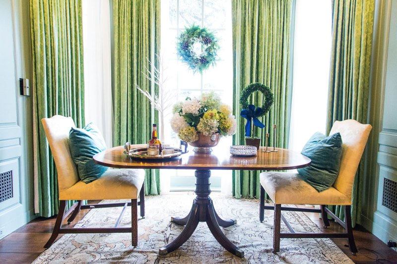 blue and green christmas decor | holiday decor | whitney j decor