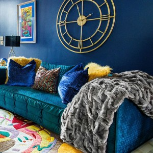 blue and green living room 20