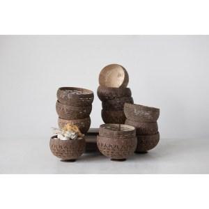 carved coconut bowl