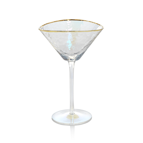iridescent martini glass