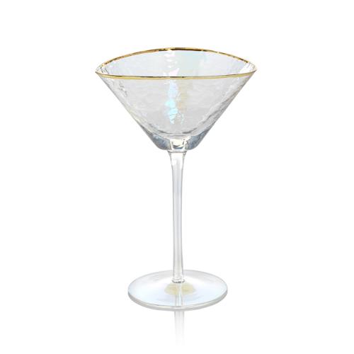 iridescent martini glass