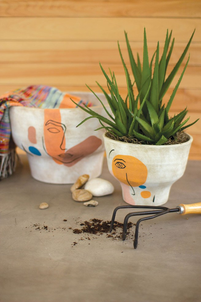 Abstract Faces Planters