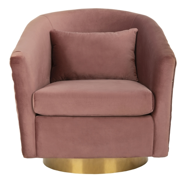 quilted swivel tub chair