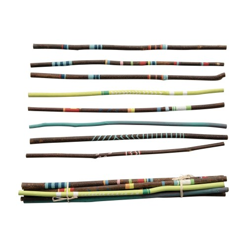hand-painted acacia wood sticks