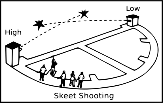 skeet shooting diagram
