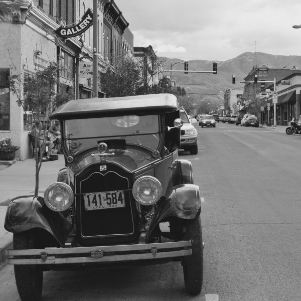 We ran across this old car on one of our Colorado road trips.