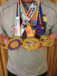 The Goofy Challenge Medals (39.3 miles over 2 days)