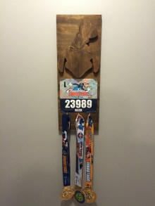 Goofy Medal Rack my friend Ken made for me to display the medals.