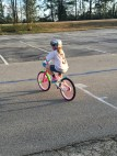 My niece Sarah riding her new bike!