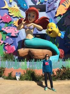 The Little Mermaid themed area
