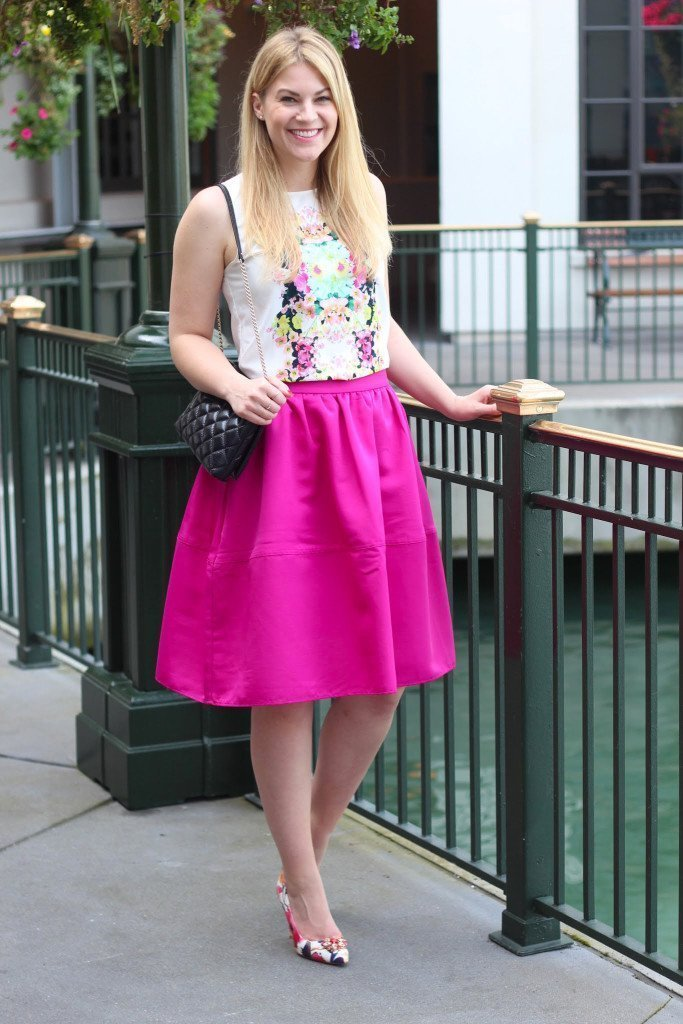 whit floral top midi skirt4