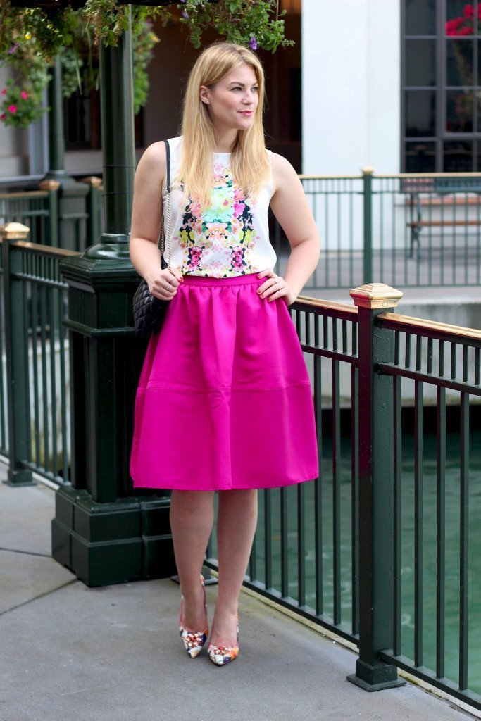 whit floral top midi skirt5