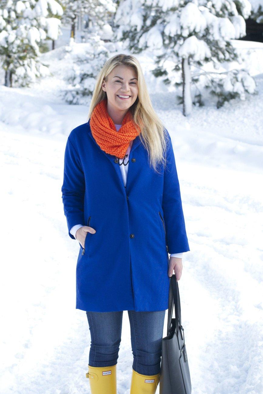 blue statement coat