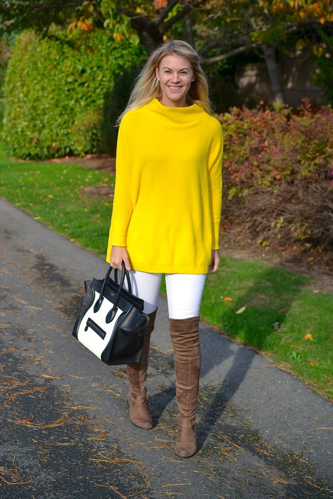 fall sweater and otk brown boots