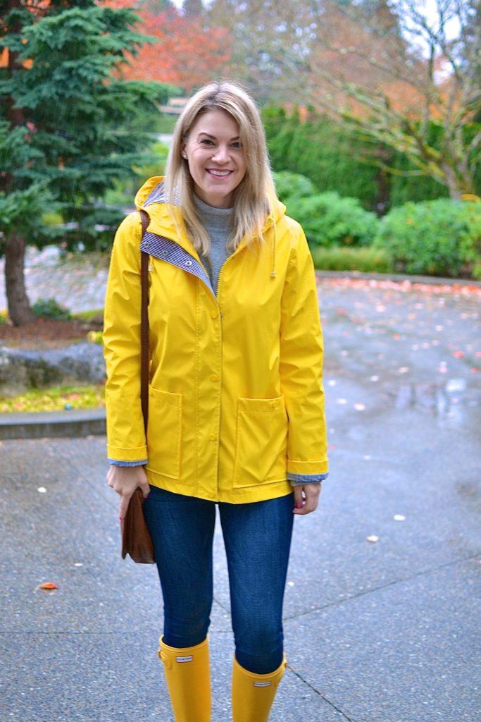 style a yellow raincoat