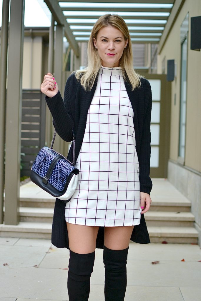 plaid dress kurt geiger