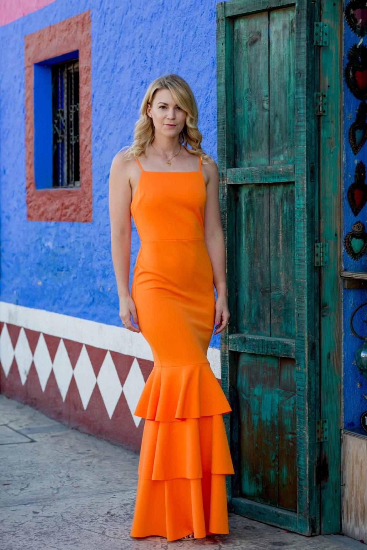 How To Wear Orange Dress