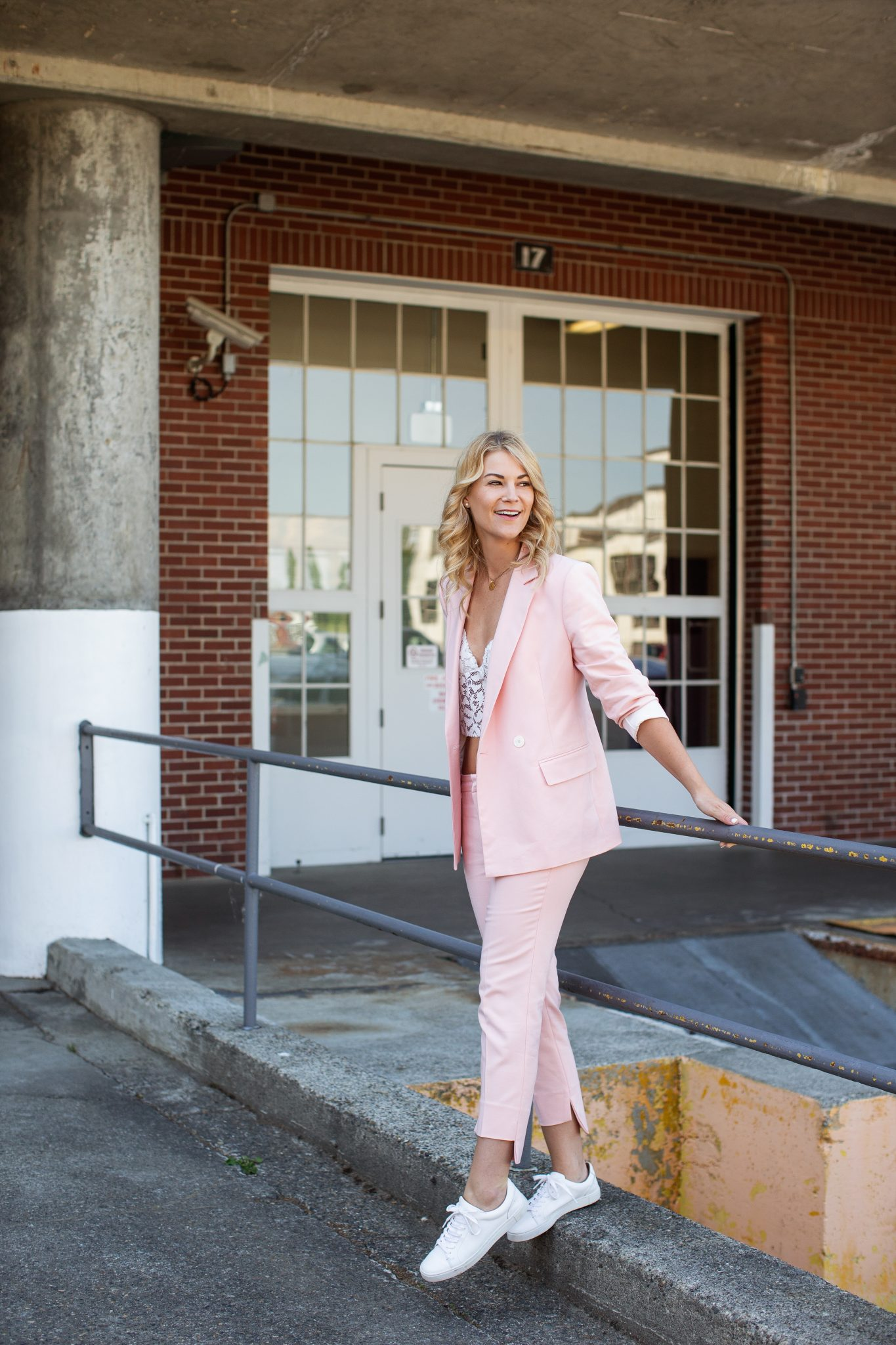 pink suit woman zara
