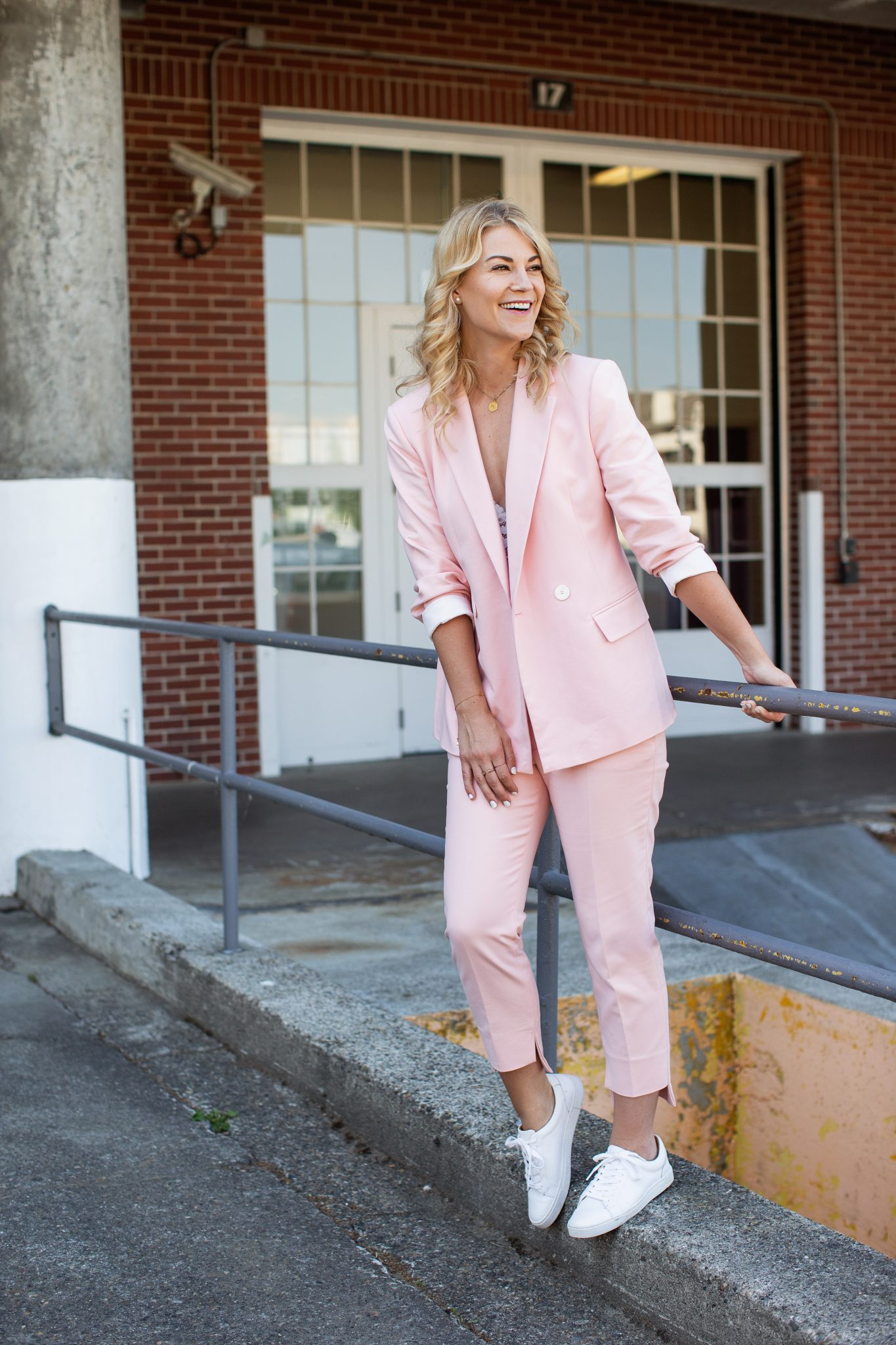 2 Ways to Style A Pink Suit