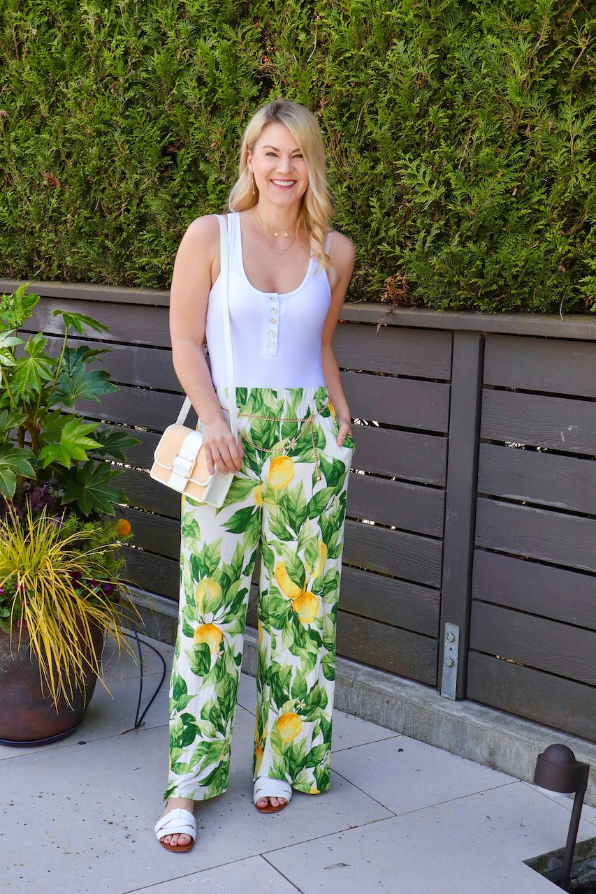 H&M Wide Leg Pants styled for Summer by top Seattle fashion blogger, Whit Wanders