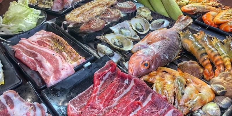 海鮮控快來吃!活泰國蝦任你撈【進吉泰國蝦海鮮炭烤吃到飽】生蠔/鮮魚/現切肉品/炒蝦料理 高雄吃到飽|高雄美食