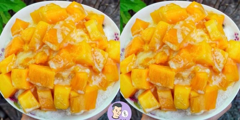【台南美食】小北阿松冰品/養生果汁 台南最便宜的芒果牛奶冰只要45元 這樣賣老闆有賺嗎?