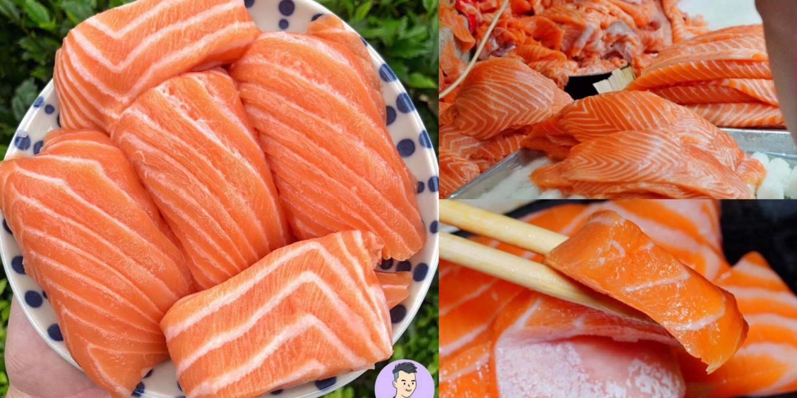 台北超狂排隊店「三味食堂」巨無霸鮭魚握壽司/鮭魚肚 紅遍日韓的日料 還有免費味噌湯 台北美食 萬華區美食