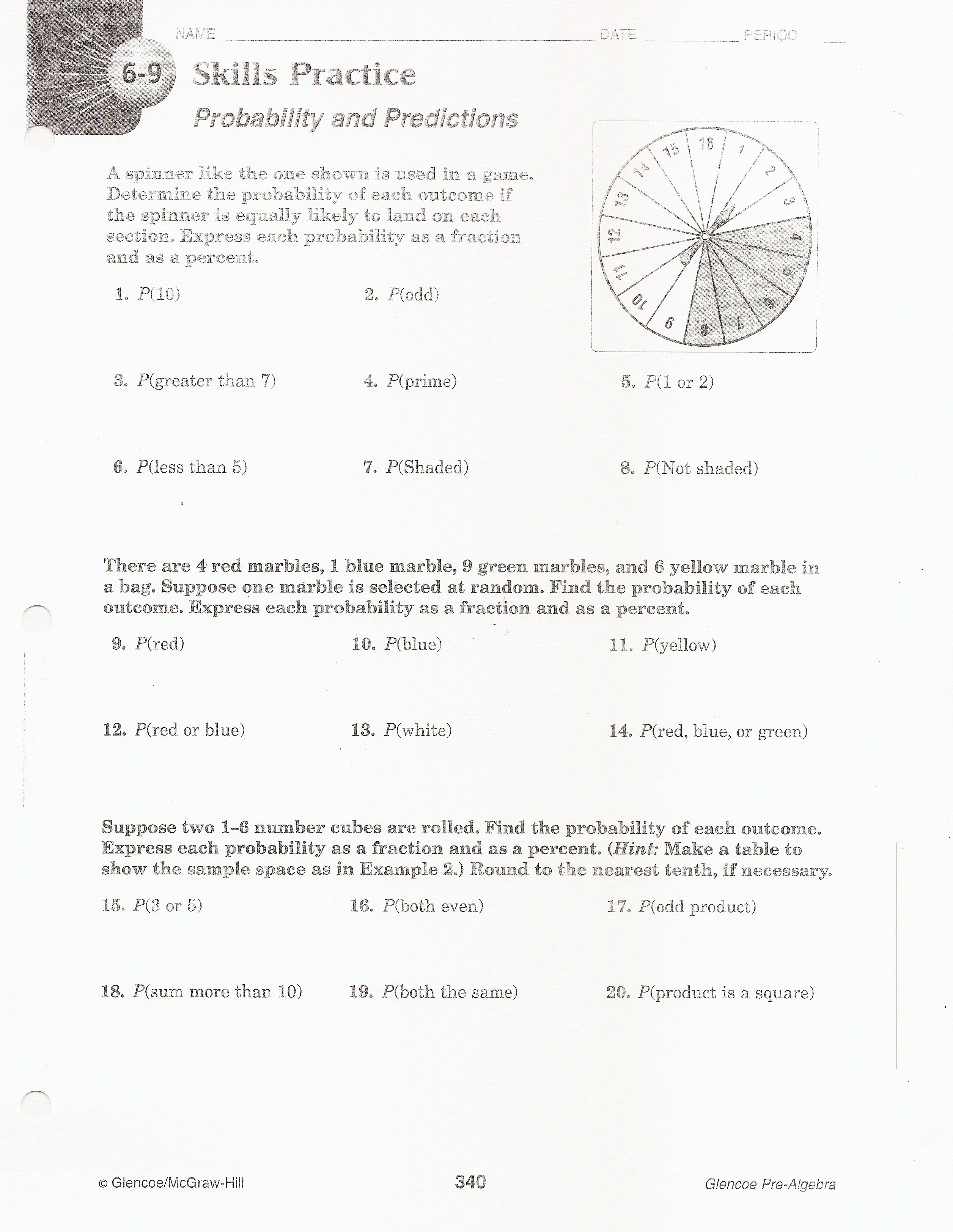 Honors Bio Pedigrees Worksheet Answers