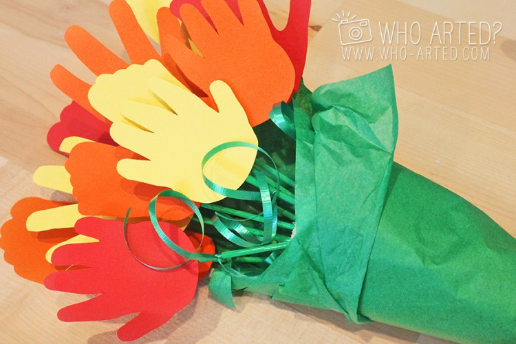Mother's Day Bouquet Handprint Footprint Who Arted 04