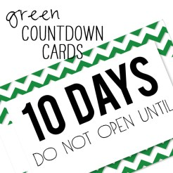Birthday Countdown Cards Mini Green Who Arted Template Thumbnail