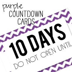 Birthday Countdown Cards Mini Purple Who Arted Template Thumbnail