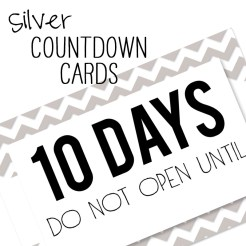 Birthday Countdown Cards Mini Silver Who Arted Template Thumbnail