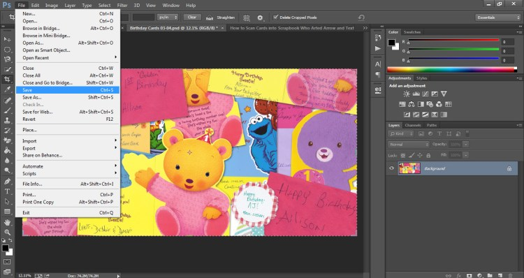 How to Scan Cards into Scrapbook Who Arted 23