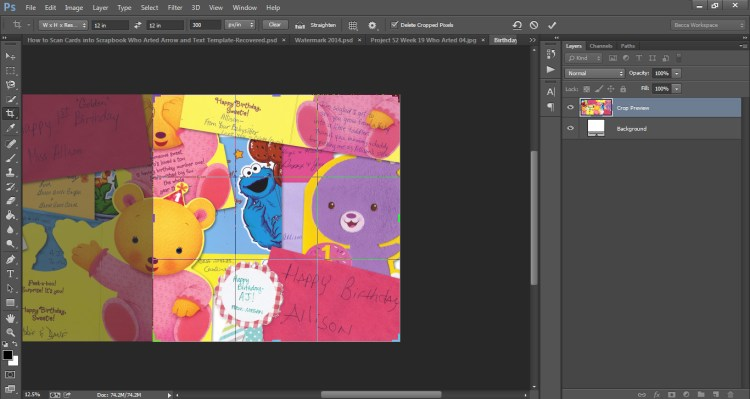 How to Scan Cards into Scrapbook Who Arted 29