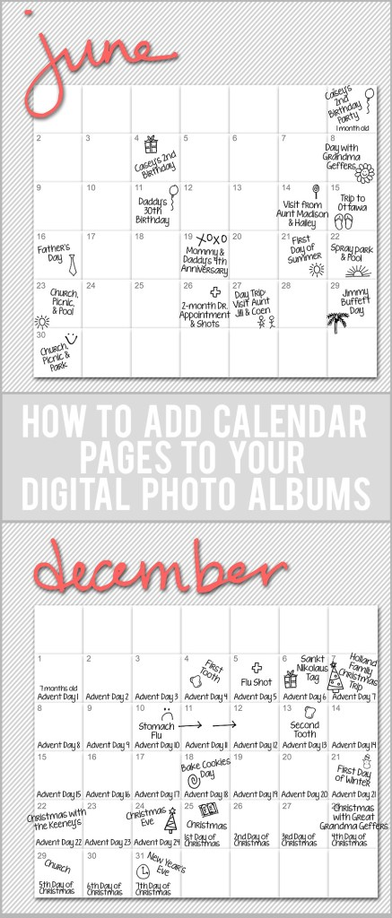 Calendar Pages Pinterest
