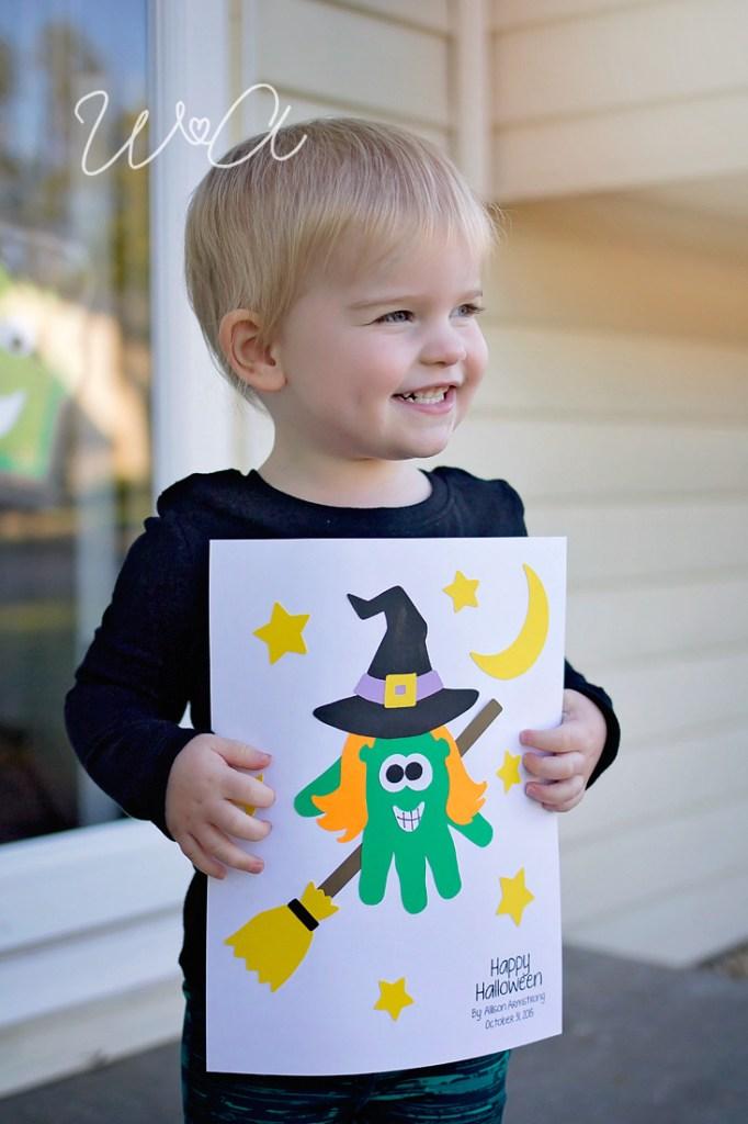 Witch Handprint Craftivity 02