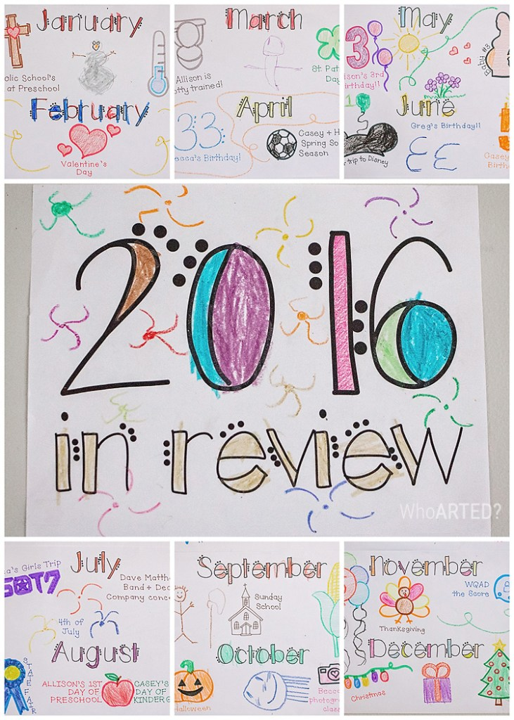 New Years Year in Review Poster { Free Download }