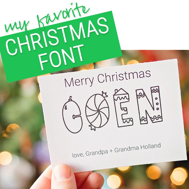 My Favorite Christmas Font