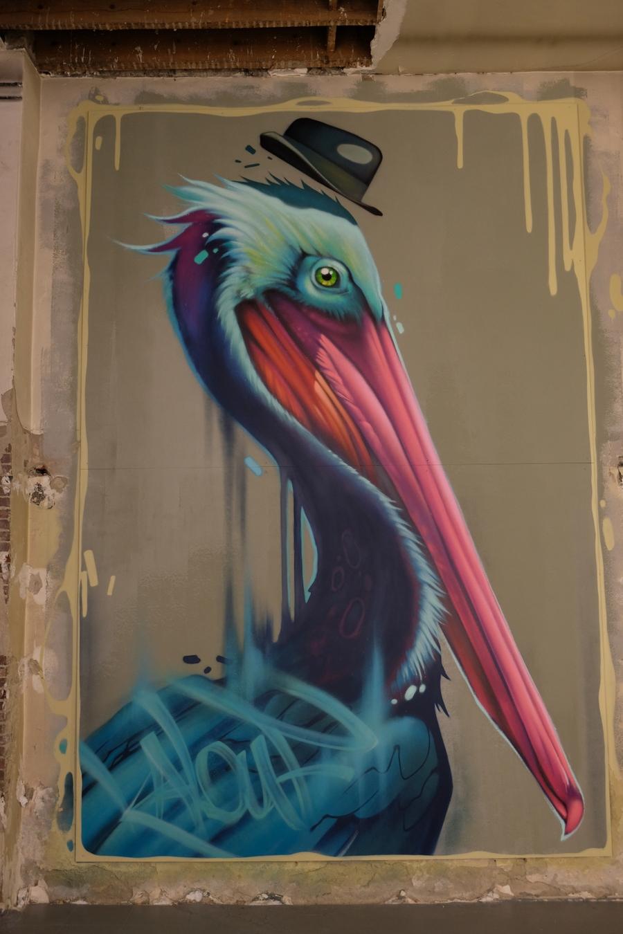 Pélican de Kalouf au Zoo Art Show